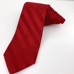 """Croft & Barrow Tie Red Striped 59"""" x 3 1/2"""""""